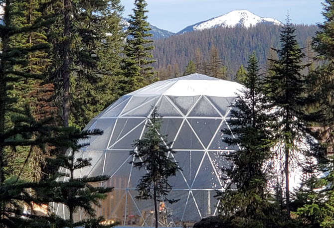 Welcome Dome and mountain