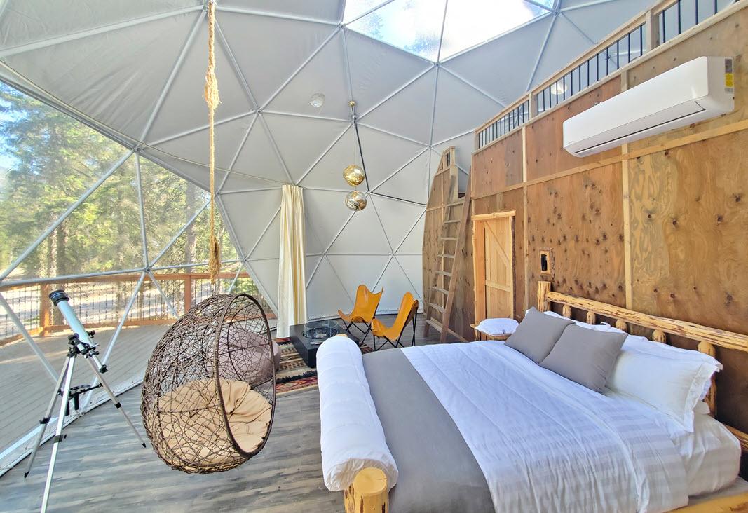 Luxury Sky Dome inside and loft